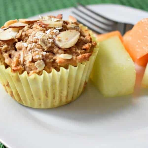 Almond Butter Oatmeal Muffins