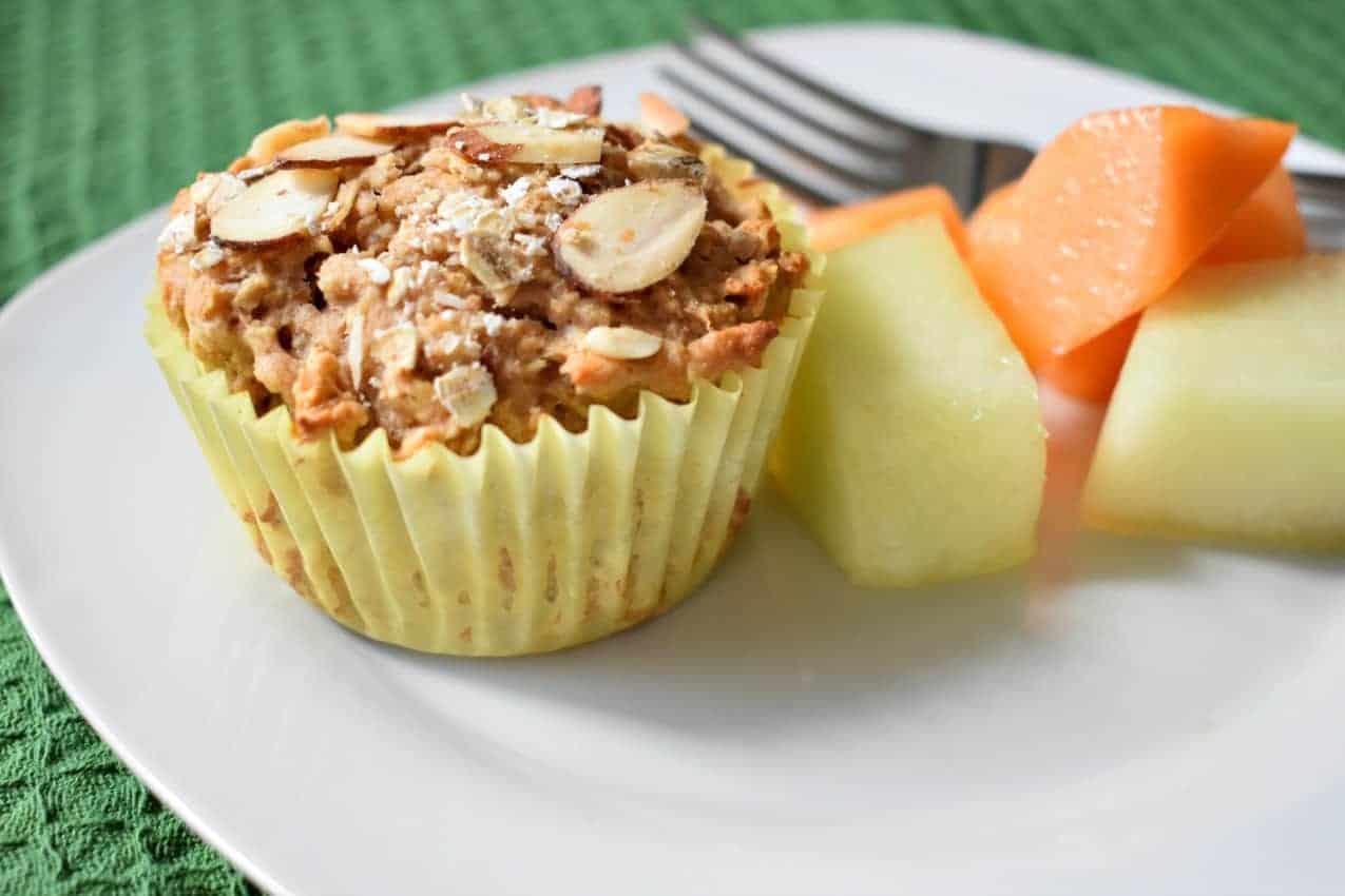 almond butter oatmeal muffins, almond butter, oatmeal, muffins