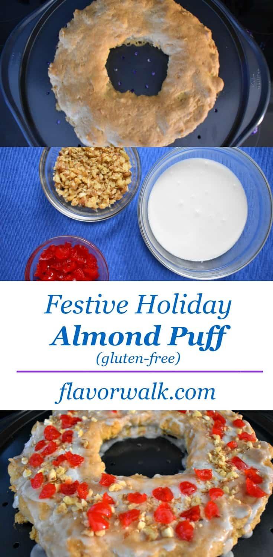 festive holiday gluten-free almond puff, holiday almond puff, festive gluten-free, holiday gluten-free