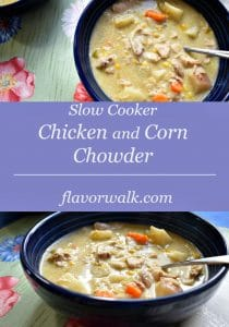 slow cooker chicken and corn chowder, slow cooker chicken, chicken and corn chowder, chowder