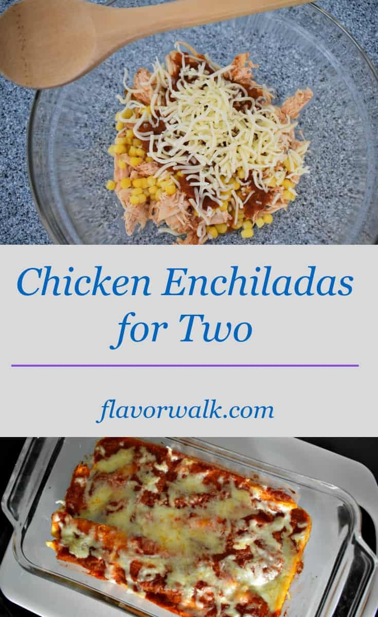 Chicken Enchiladas for Two are packed with flavor, and are just the right amount for two!