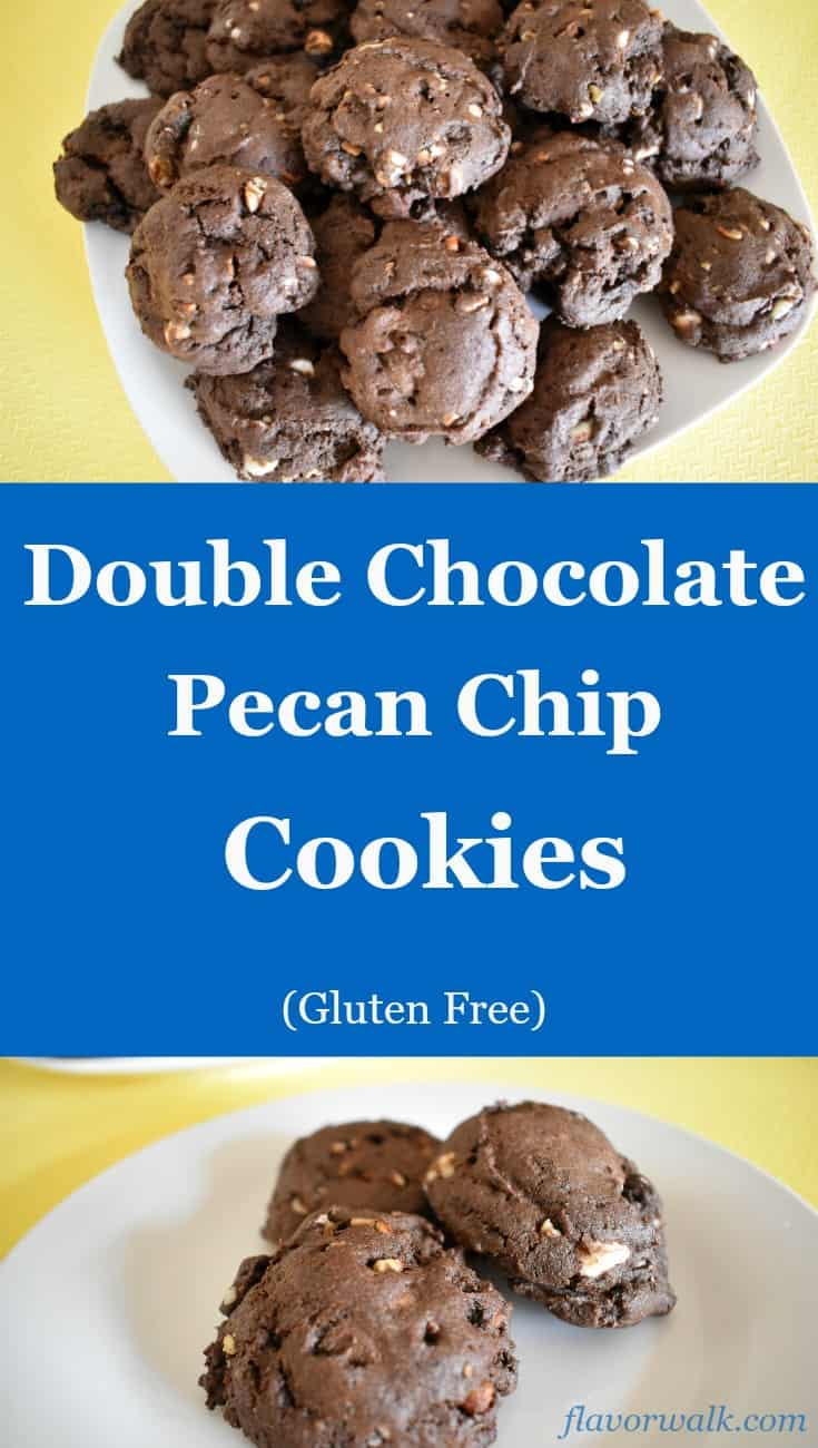 Double Chocolate Pecan Chip Cookies are sweet, chewy, and full of chocolate goodness!