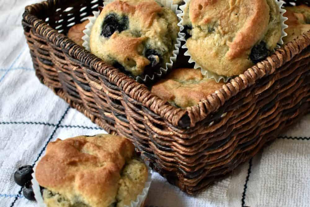 Easy Gluten Free Blueberry Muffins