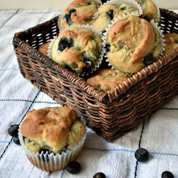 Easy Gluten Free Blueberry Muffins