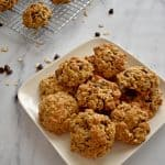 Gluten Free Oatmeal Cookies on white plate