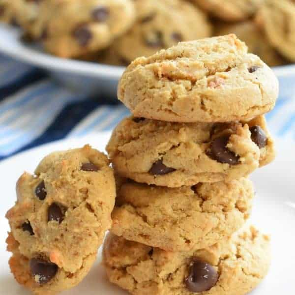 Healthier Chocolate Chip Cookies with Quinoa and Almond Butter