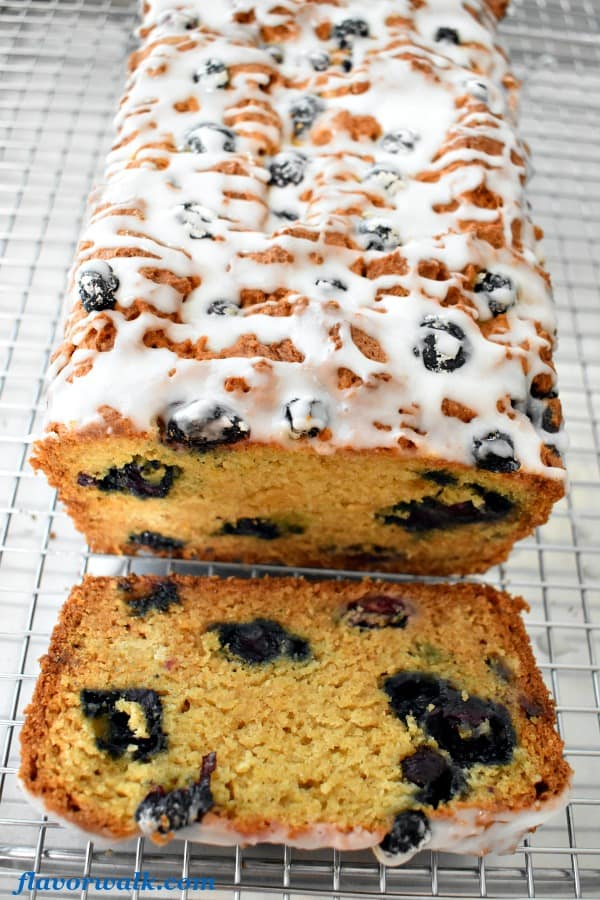 Lemon Blueberry Bread with Lemon Glaze is full of flavor and the perfect combination of lemon and blueberries.