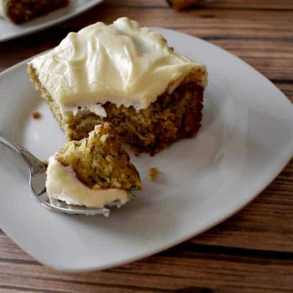Gluten Free Banana Cake with Cream Cheese Frosting