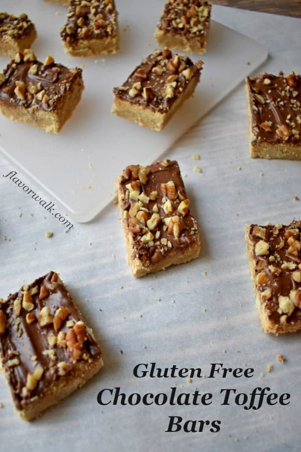 Gluten Free Chocolate Toffee Bars are the perfect treat any time you have a craving for a little something sweet.