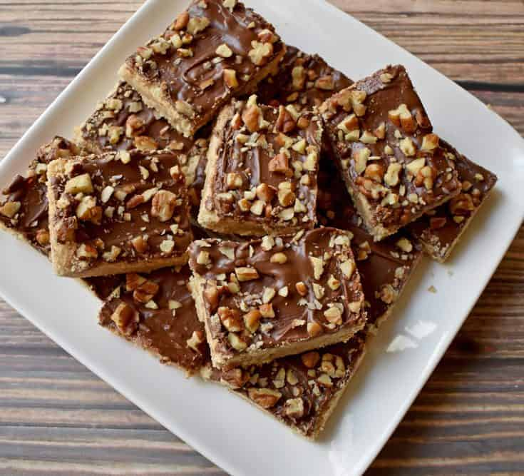 Gluten Free Chocolate Toffee Bars Recipe