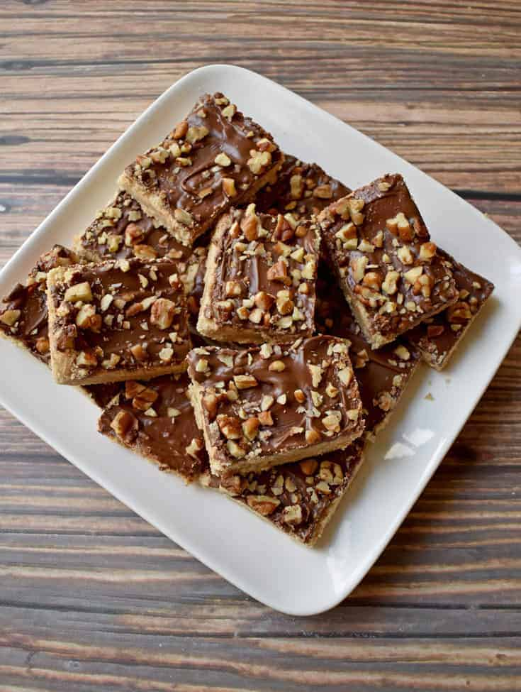 Gluten Free Chocolate Toffee Bars