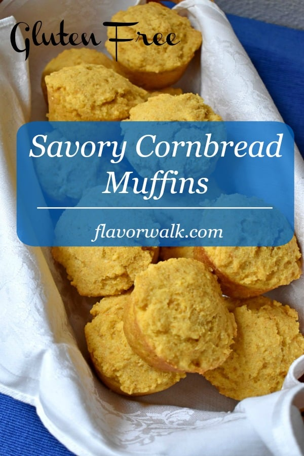 Savory gluten free cornbread muffins