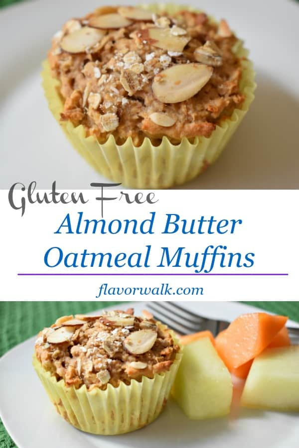 Almond Butter Oatmeal Muffins are packed with flavor and a perfect start to any day!