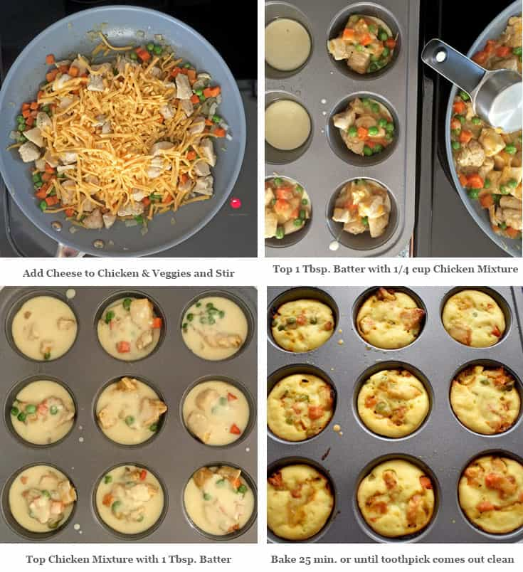 Gluten Free Mini Chicken Pot Pies Process 2