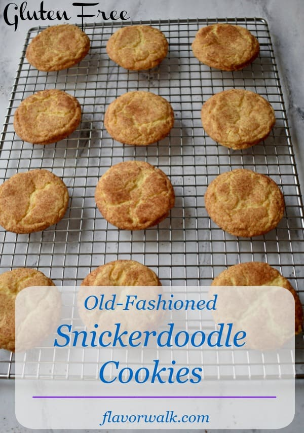 Old-Fashioned Snickerdoodle Cookies are tender, chewy, and dusted with cinnamon and sugar. They're simple, tasty, and best of all, gluten free!