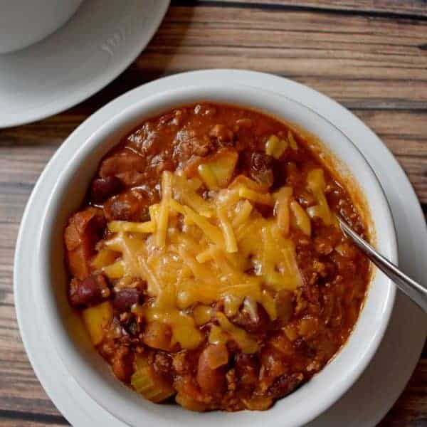Chili with Beef, Turkey and Potatoes