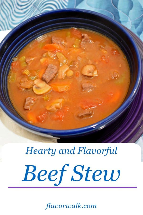 Hearty and Flavorful Beef Stew is meaty and delicious. The perfect one-pot dish to warm up the coldest nights!! #beefstew #onepotdish