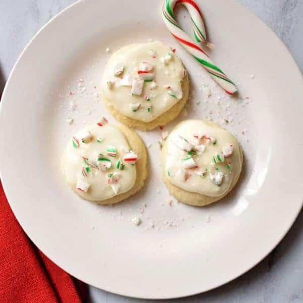 Gluten Free Peppermint Meltaway Cookies