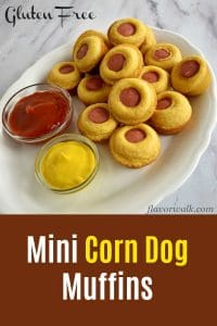 These mini corn dog muffins are quick, easy, and gluten free. They're perfect as party appetizers, game day munchies, or late-night snacks!