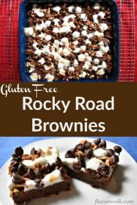 Rocky Road Gluten-Free Brownies are rich and filled with chocolate goodness. The perfect gluten free treat for every chocolate lover! | Flavor Walk