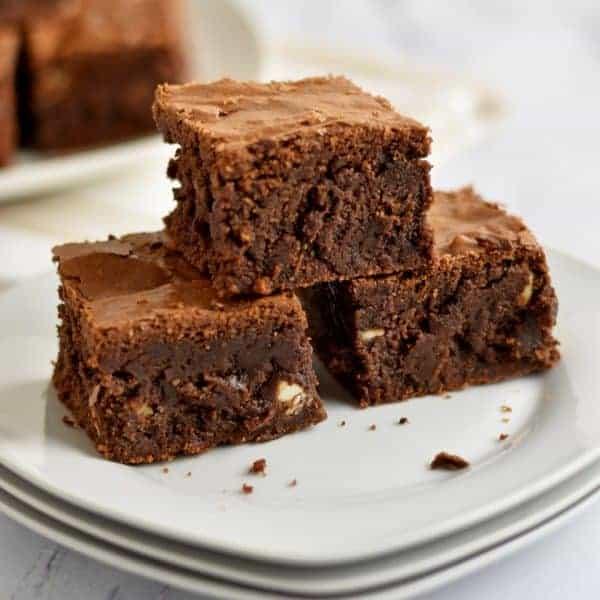 Gluten Free Triple Chocolate Chip Brownies