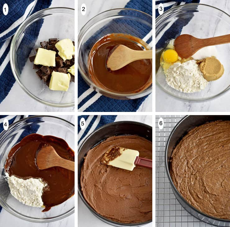 Chocolate Brownie Cheesecake {Gluten Free} Process 1