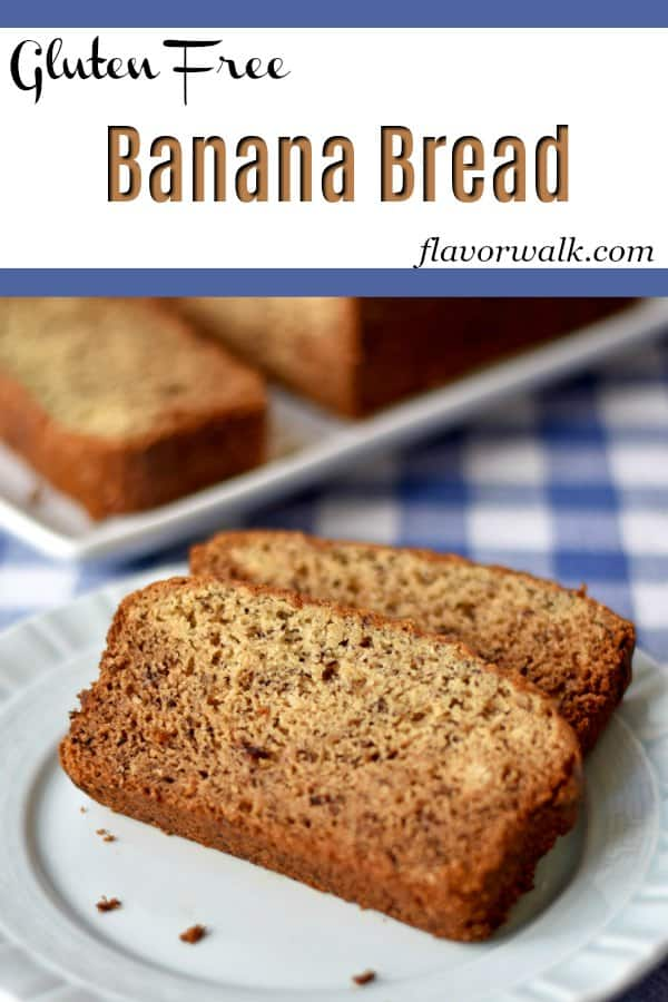 If you like the flavor of bananas, you'll love this homemade banana bread. This quick bread is so tender and tasty, no one will guess its gluten free! #glutenfreerecipes #bananabread