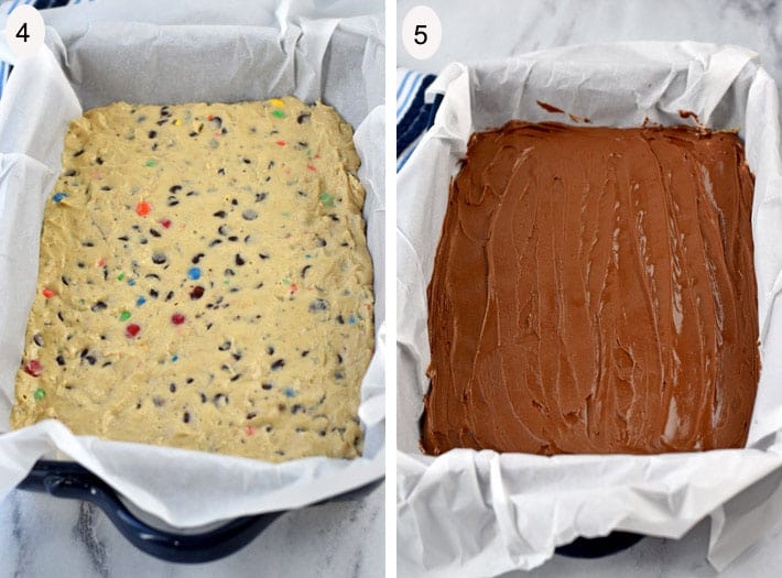 Process Steps 4-5 for making No Bake Cookie Dough Bites