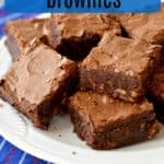 Have a craving for chocolate and nuts? You've got to try these Rich Chocolate Pecan Brownies. This gluten free recipe makes incredibly fudgy, dense, and rich brownies! #glutenfreerecipes #glutenfreebrownies