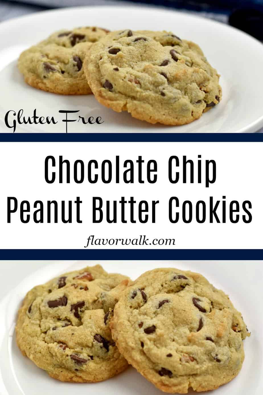 These are the best gluten free chocolate chip peanut butter cookies! They are crisp around the edges, but soft and tender in the middle. Love the combination of chocolate and peanut butter? These gluten free cookies are for you!