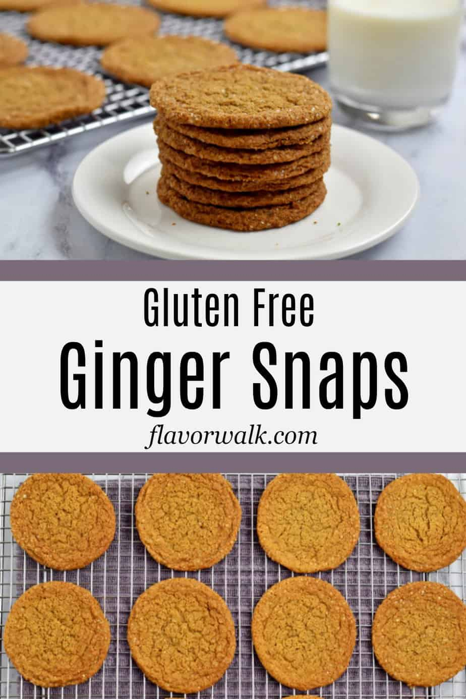 These Gluten Free Ginger Snaps are crisp around the edges, soft and chewy in the middle, and filled with bold flavor. They are the perfect cookie any time of year!