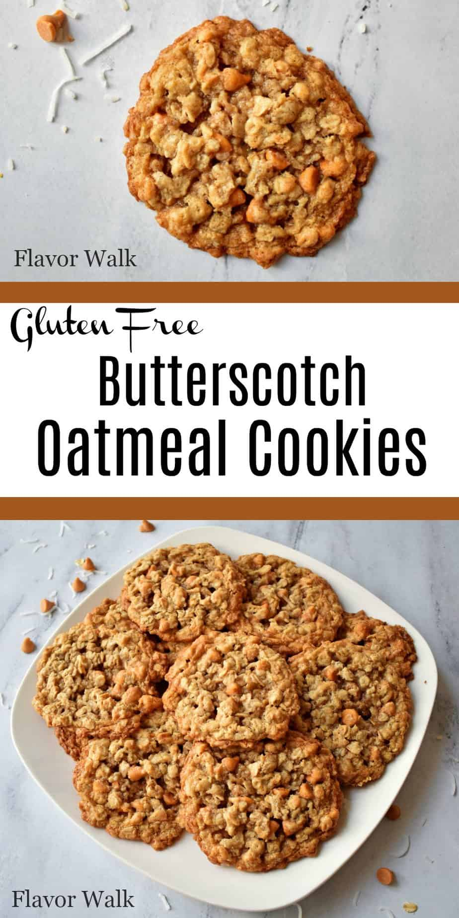 These butterscotch oatmeal cookies with toasted coconut are sweet and chewy. This easy gluten free recipe is a new twist on an old classic.