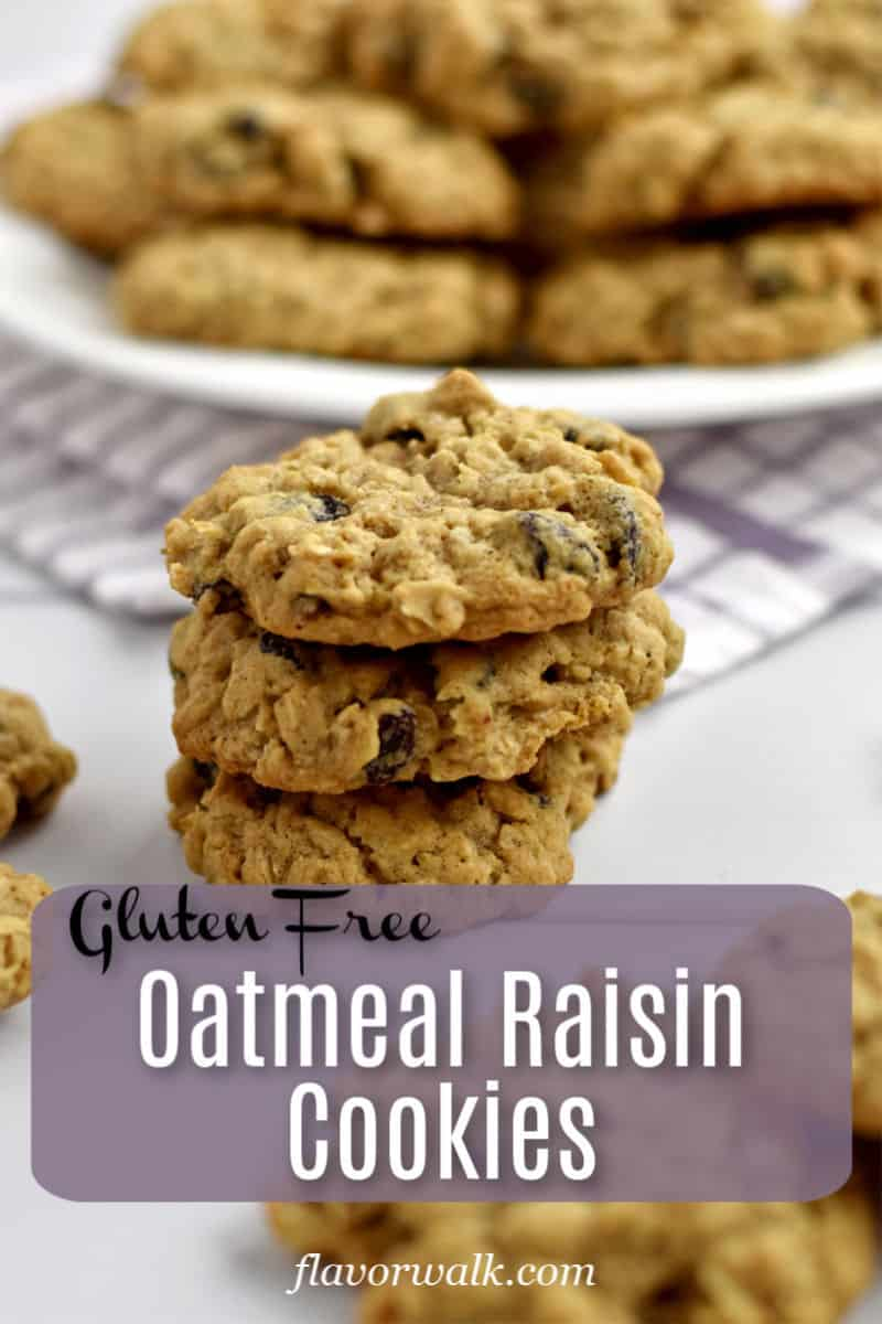 These Gluten Free Oatmeal Raisin Cookies are filled with raisins and lots of oats. They're soft, chewy, and impossible to resist!